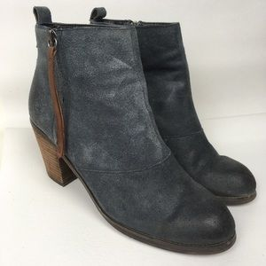 DV Sz 10M Suede Distressed Zip Booties